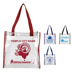 """Matterhorn"" Clear Vinyl Stadium Compliant Tote Bag"